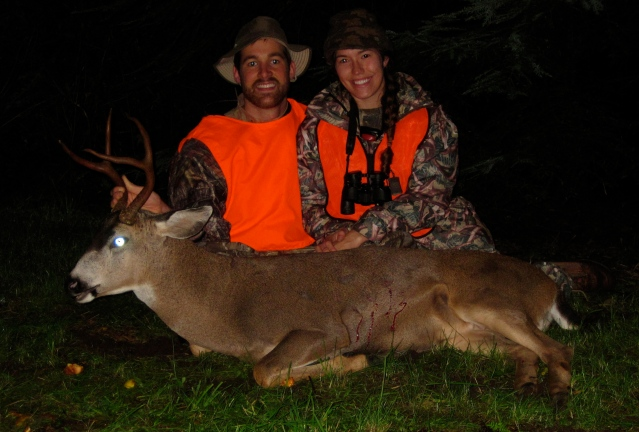 Kristy and I with the Blacktail Buck